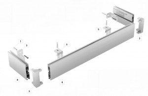 Top Line + rohové spojky (montáž strop)