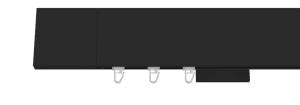 Top-line-konovka SQUARE-čierna matná