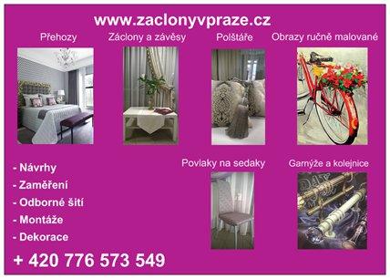 Akce šiti záclon a závěsu v Praze