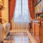 Rustikální luxusní sametové závěsy